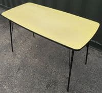1960's Metal Framed Kitchen Dining Table